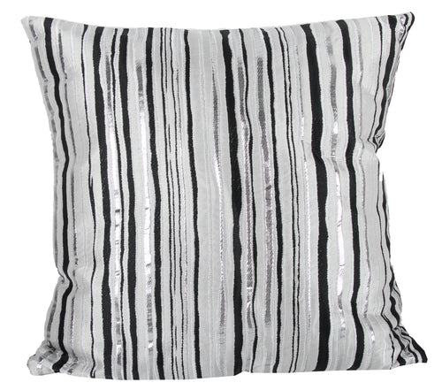 Pillow (Black Silver Stripes Pillow - T73843)