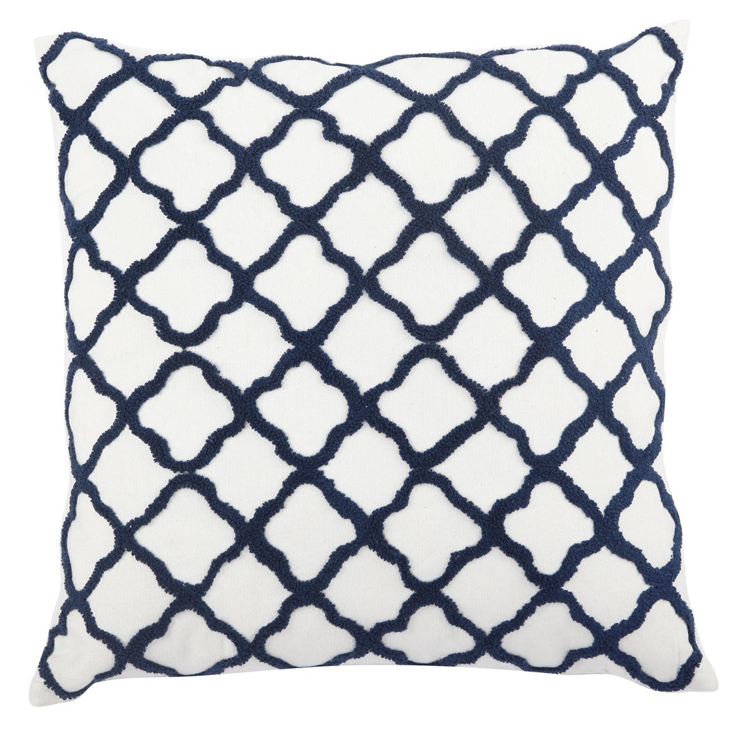 Pillow (Embroidered Moorish Tile Pillow - T38613)