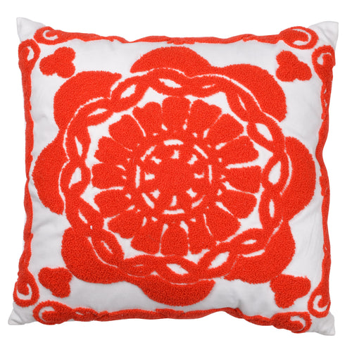 Pillow (Embroidered Garnet Red Crest Pillow - T41033)