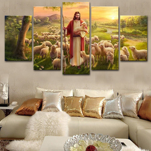 Jes sheep canvas painting
