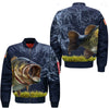 FISHING 15 OVER PRINT BOMBER JACKET