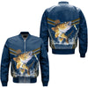 WALLEYE FISHING OVER PRINT BOMBER JACKET