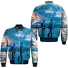 FISHING 23 OVER PRINT BOMBER JACKET