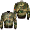 FISHING 25 OVER PRINT BOMBER JACKET