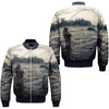 FISHING 26 OVER PRINT BOMBER JACKET