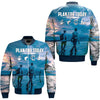 PLAN TODAY FISHING OVER PRINT BOMBER JACKET