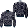 FISHING TROPICAL OVER PRINT BOMBER JACKET
