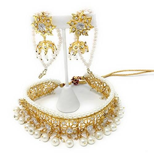White And Yellow Pearls Jadavi Lacha Necklace - Buy from EsyExpress.com