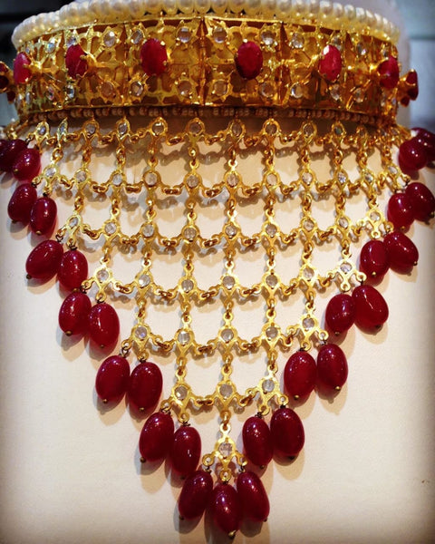 Red Kundan Rani Haar - Buy from EsyExpress.com