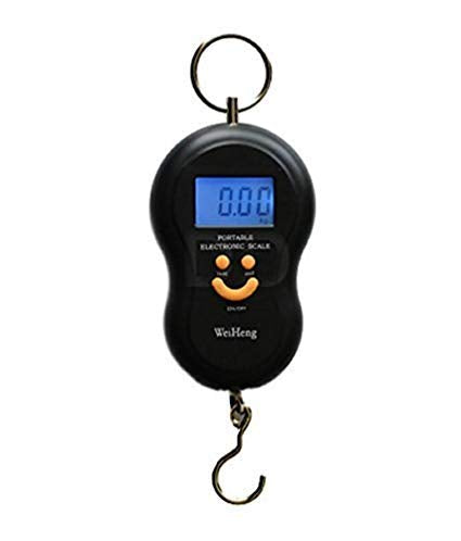 40Kg 10g Portable Handy Pocket Smile Mini Electronic Digital LCD Scale Hanging Fishing Hook Luggage Balance Weight Weighing Scales (Color May Vary) Exclusive - Buy from EsyExpress.com