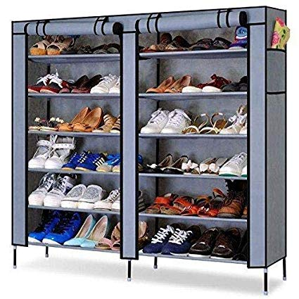 Fancy Fabric Shoe Rack Organizer, 12 Layers (Grey) Exclusive - Buy from EsyExpress.com