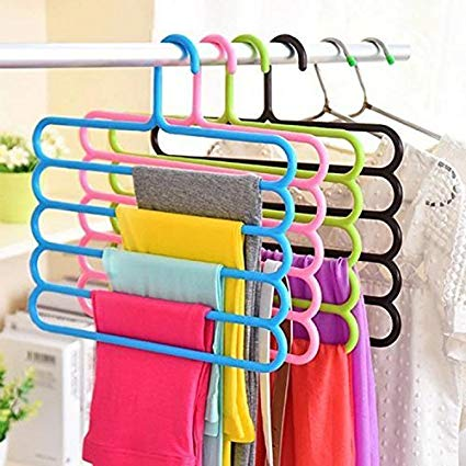 5 Layer Plastic Hangers (Multicolour) - Set of 5 Exclusive - Buy from EsyExpress.com