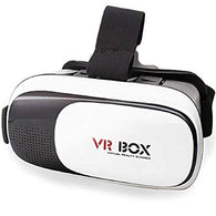 3D VR Headset Virtual Reality Box with Adjustable Lens and Strap Compatible with All Smartphones (White) Exclusive - Buy from EsyExpress.com