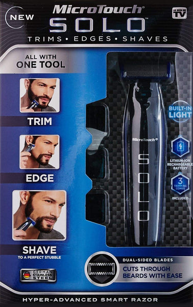 Micro Touch Solo Rechargeable Full Body Trimmer and Shaver - Cordless Beard Trimmer Smart Razor Shaver, Trimmer and Edge - Buy from EsyExpress.com