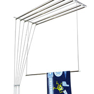 4 feet 6 rods metal bracket cloth drying ceiling hanger - Buy from EsyExpress.com