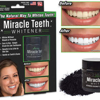 As Seen On TV Miracle Teeth Whitener Activated Natural Whitening Coconut Charcoal Cleaner Perfect Smile Stain Remover (20 g, Black) - Buy from EsyExpress.com