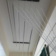 8 Feet 6 Rods  Metal Bracket Cloth Drying Ceiling Hanger - Buy from EsyExpress.com