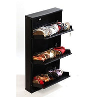 White Wooden 3 Compartment Shoe Rack - Buy from EsyExpress.com