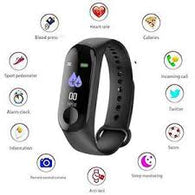 B2C M3 Intelligence Bluetooth Health Wrist Smart Band Watch Monitor/Smart Bracelet/Health Bracelet/Activity Tracker/Smart Fitness Band Compatible for All Androids and iOS Phone/Tablet (Black) Exclusive - Buy from EsyExpress.com