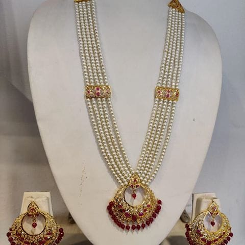 Long White And Pink Rani Haar - Buy from EsyExpress.com