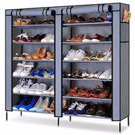 5 Pieces Fancy Fabric Shoe Rack Organizer, 12 Layers (Grey) - Buy from EsyExpress.com