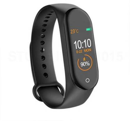 M4_D4 Smart Band Fitness Tracker Watch Heart Rate with Activity Tracker Waterproof Body Functions Like Steps Counter, Calorie Counter, Blood Pressure, Heart Rate Monitor OLED Touchscreen - Buy from EsyExpress.com