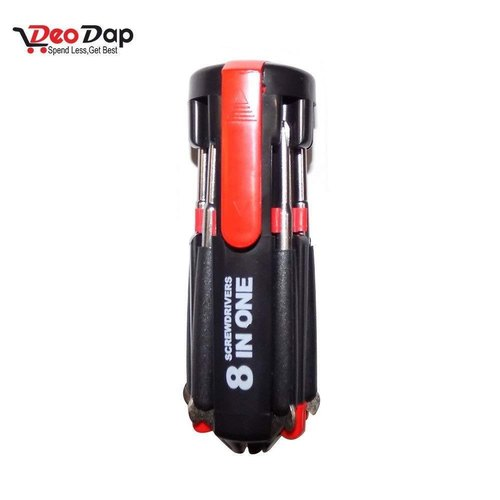 8 in 1 Multi-Function Screwdriver Kit with LED Portable Torch - Buy from EsyExpress.com
