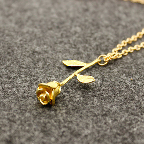 Attractive Women's Rose Necklace - HighToneJewelry