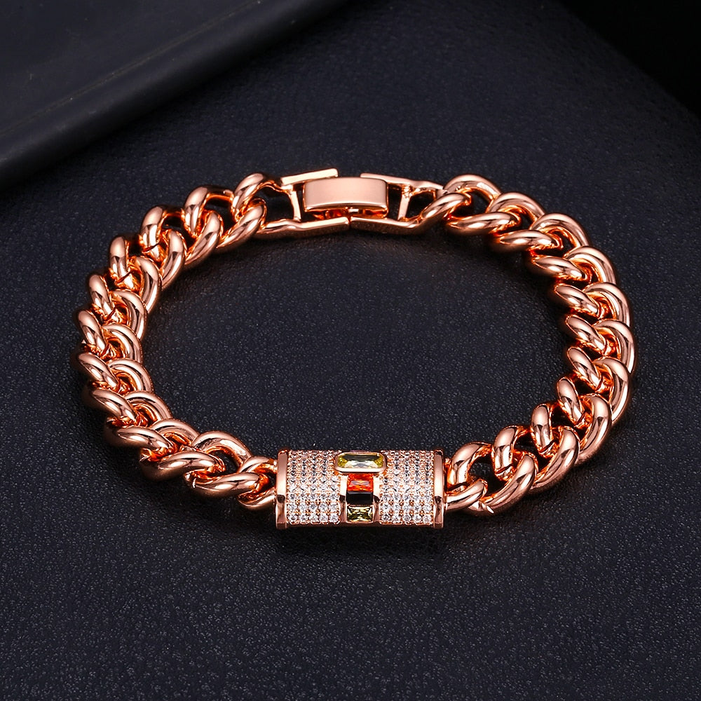 jankelly monaco designer Top accessories fashion unique Rope Chain bangle AAA zircon micro pave hand bracelet