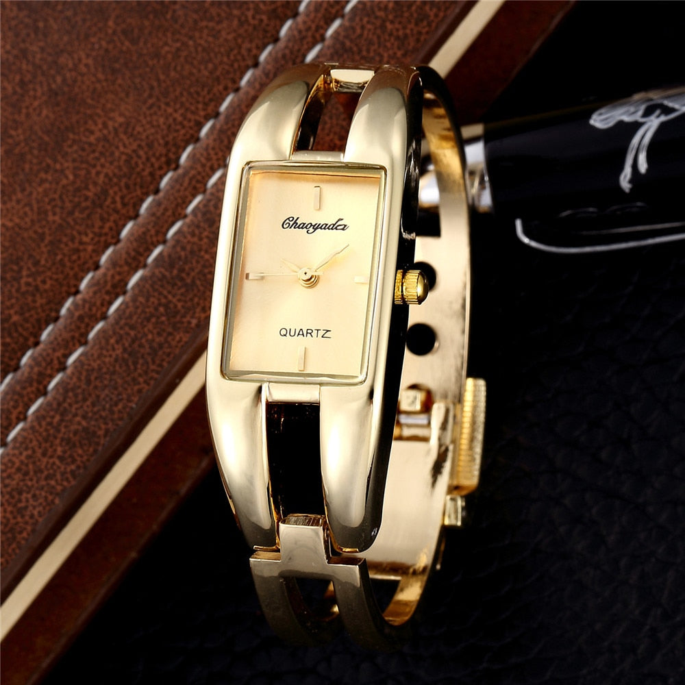 Women Gold Wristwatch 2019 New Stylish Luxury Rectangle Business Ceasuri Quartz Watch Clock Hot relojes para mujer