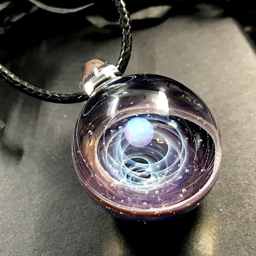 Handmade unique  universe ball gift decorative galaxy glass Ball necklace
