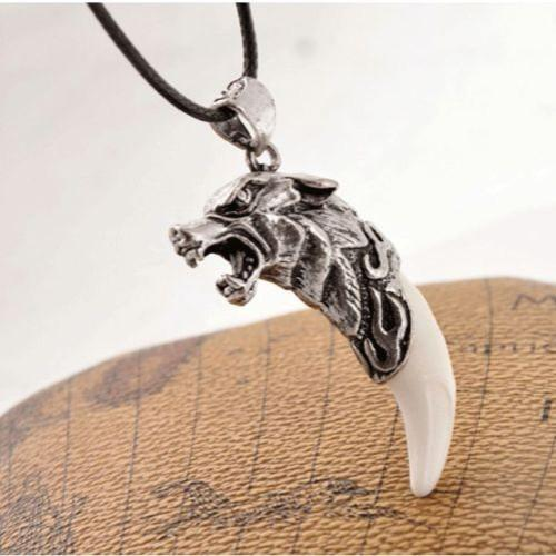 Antique Wolf Tooth Necklace - HighToneJewelry