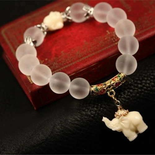 Crystal Elephant Bracelet - HighToneJewelry