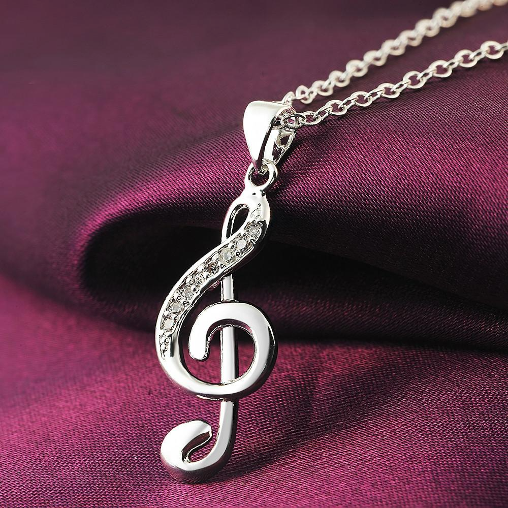 Musical Note Design Necklace - HighToneJewelry