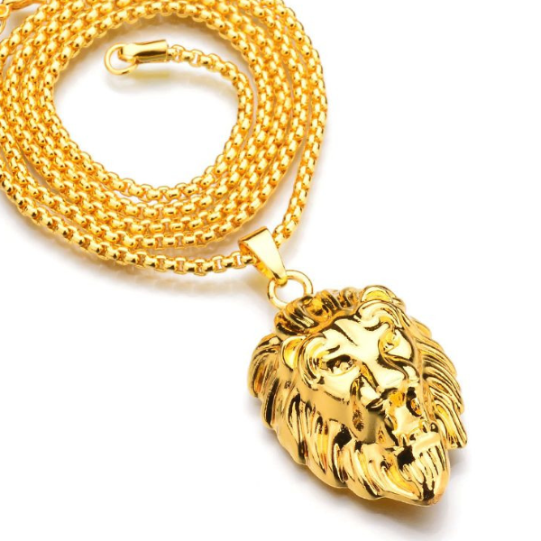 Lion Head Necklace - HighToneJewelry