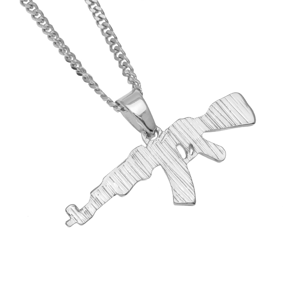 Iced Out AK47 Necklace - HighToneJewelry