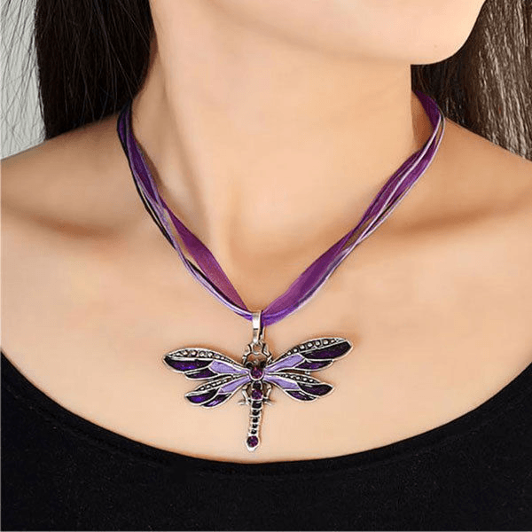 Dragonfly Pendant for Women - HighToneJewelry