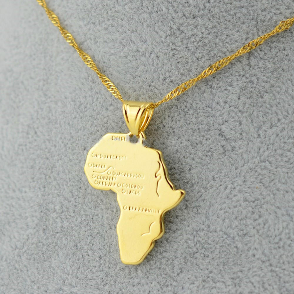 Map Necklace for Men/Women - HighToneJewelry
