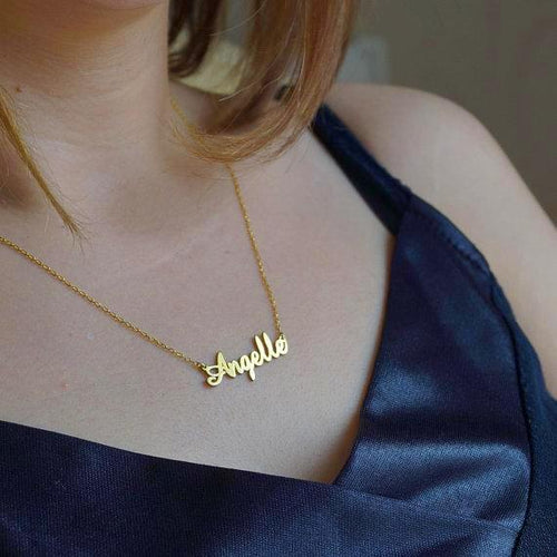 Custom Name Gold Necklace - HighToneJewelry