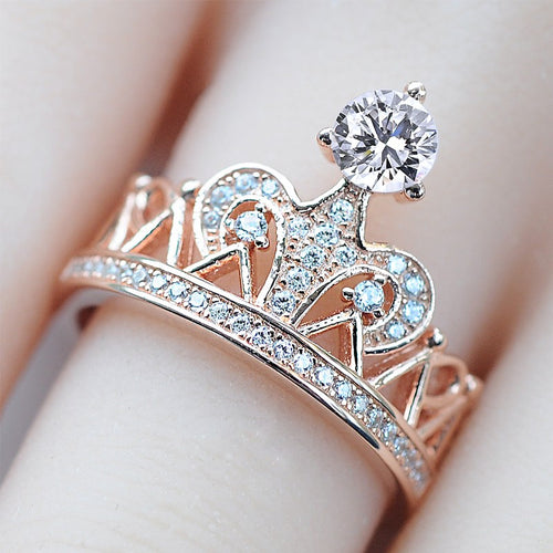 Princess Crown Ring for Women - HighToneJewelry