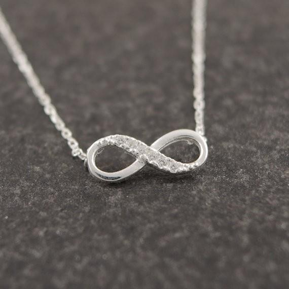 Infinity Crystal Necklace - HighToneJewelry