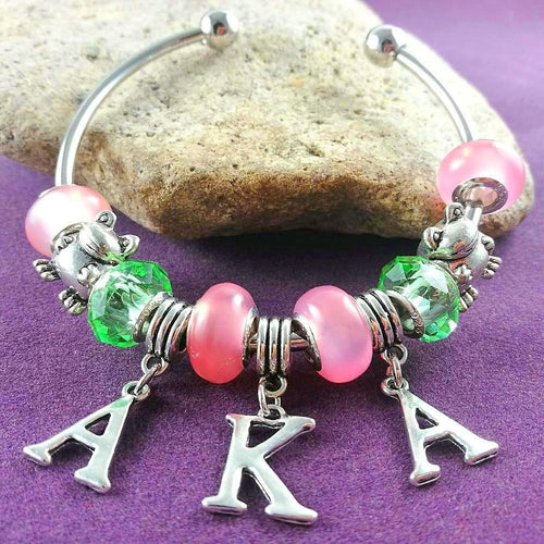 Alpha Kappa Alpha Sorority Bracelet - HighToneJewelry