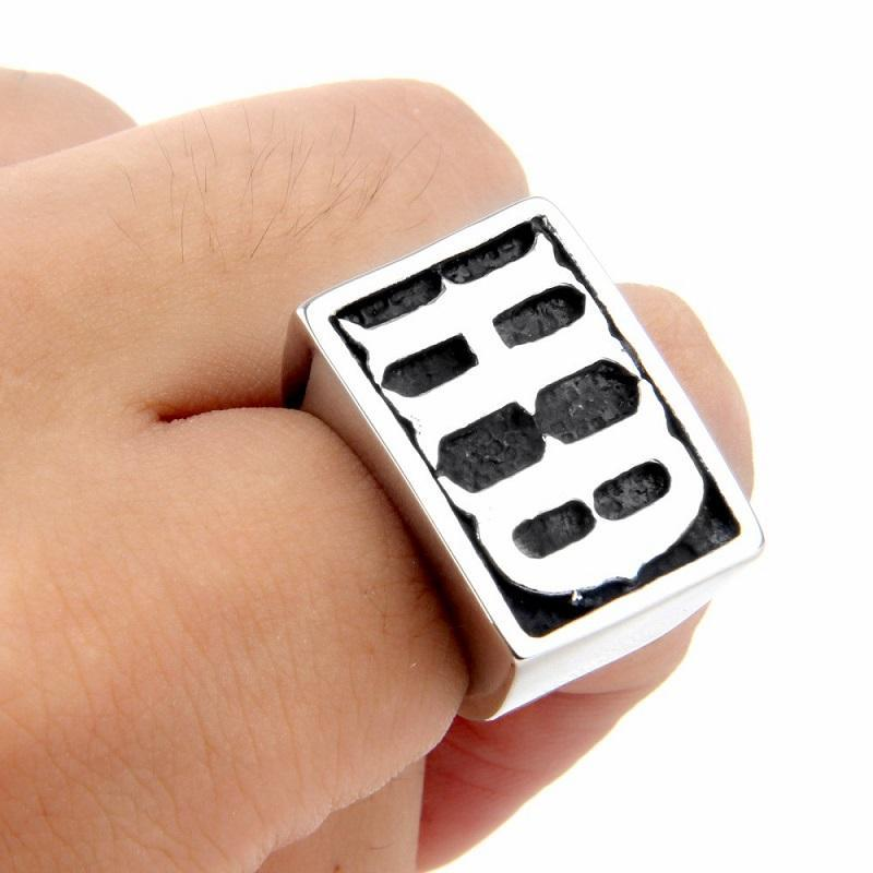 Men's Initials Ring - HighToneJewelry