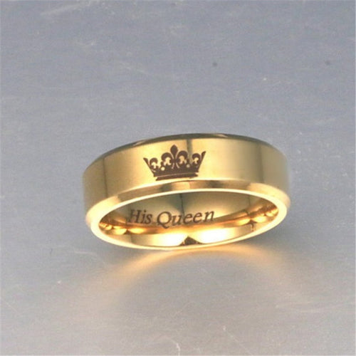 "Couples ""His Queen-Her King"" Rings - HighToneJewelry"