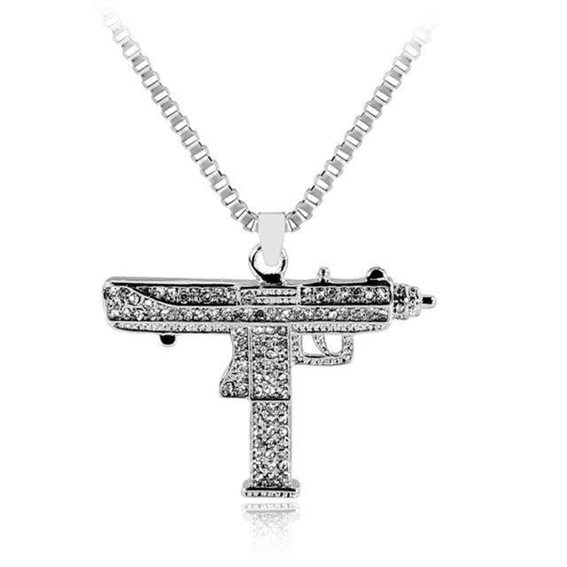 Iced Out Uzi Pendant - HighToneJewelry