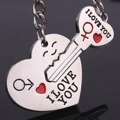 Couple's I LOVE YOU Keychain - HighToneJewelry