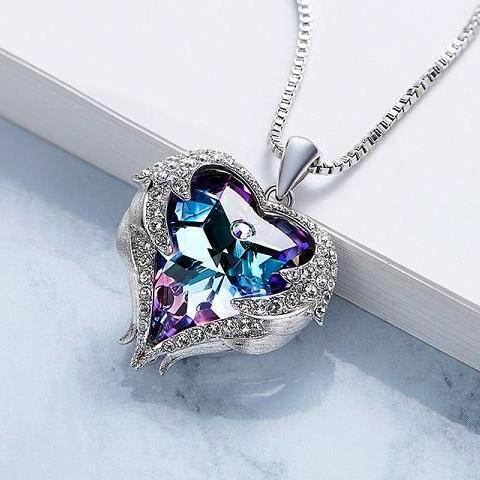 Heart Shaped Wings Pendant - HighToneJewelry