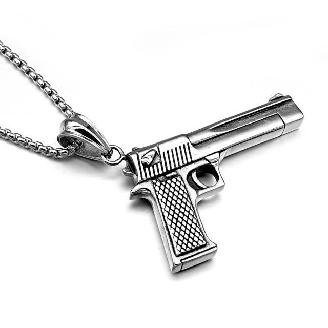 Pistol Necklace - HighToneJewelry