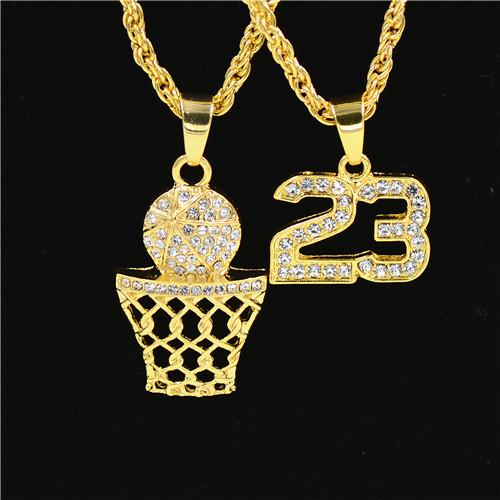 Iced out Jumpman 23 Pendant - HighToneJewelry