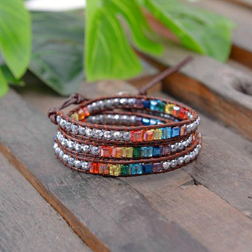 Handmade Colorful Chakra Braclet - HighToneJewelry